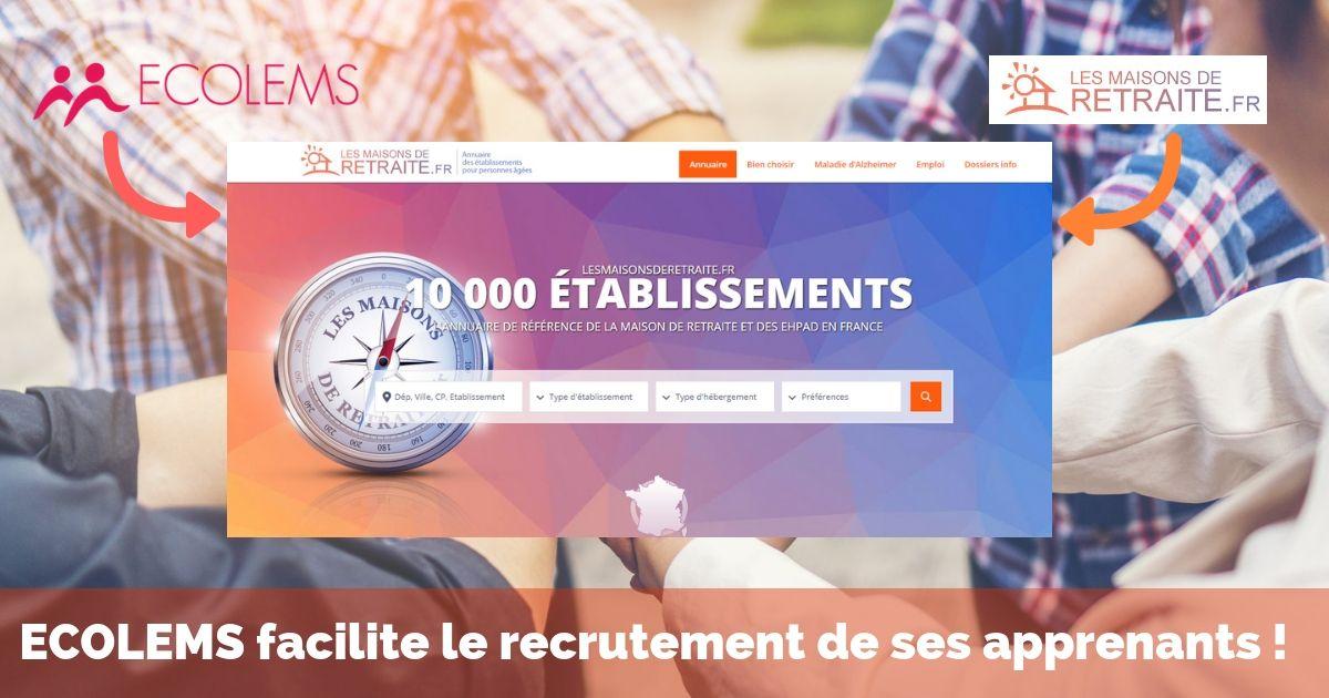ECOLEMS partenaire de Maisons de retraite.fr
